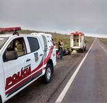 Animal na pista provoca acidente e casal fica ferido na BR-423 em Delmiro Gouveia