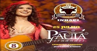 Paula Fernandes é a grande atração da Festa do Carro de Boi em Inhapi neste sábado (25)