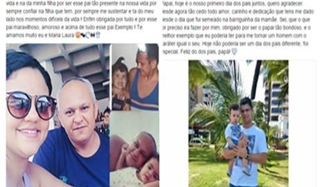 Delmirenses realizam diversas homenagens ao dia dos pais nas redes sociais