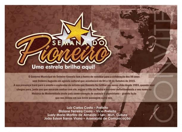 Governo Municipal de Delmiro Gouveia promove 'Semana do Pioneiro – Uma estrela brilha aqui!'