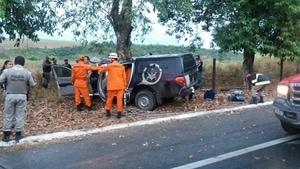 Militar morre e três ficam feridos em acidente em Atalaia, Alagoas