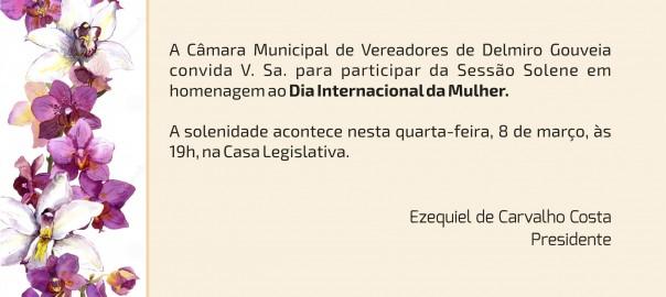 Câmara de Delmiro realiza sessão solene em homenagem ao Dia Internacional da Mulher