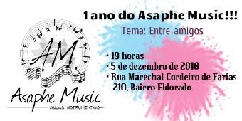 Escola de música Asaphe Music realiza evento comemorativo de 1 ano em Delmiro Gouveia