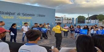 SMTT desenvolve conscientização no trânsito para alunos da rede pública municipal de ensino em Delmiro Gouveia