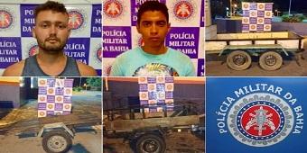 PM prende dupla por furto e desmanche de reboques em Paulo Afonso