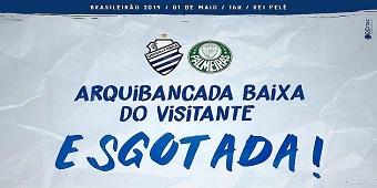 CSA informa que arquibancada baixa para torcida do Palmeiras está esgotada