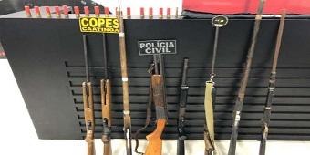 Operação prende duas pessoas e apreende armas em Mata Grande