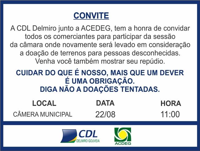 Delmiro: CDL repudia projeto do Executivo e convoca comerciantes para sessão na Câmara desta quinta (22)